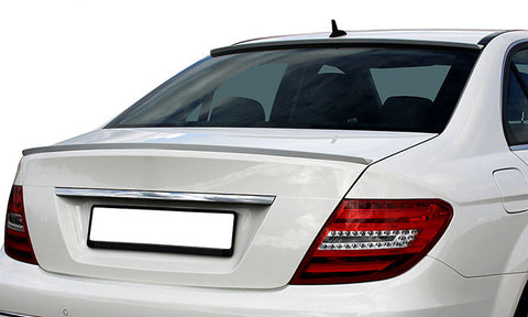 Mercedes Benz C Class W204 Sedan Trunk Spoiler Lip