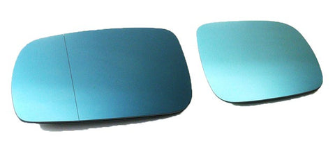 Audi Pre-Facelift Euro Mirror Glasses Blue Heated Aspheric / Convex (Large-Small)