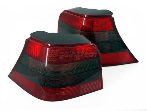 VW Golf MK4 Red + Black Euro Tail Lights