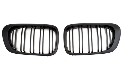 Matte Black Dual Slat Grills 00-07 For BMW E46 M3