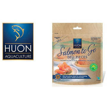 Huon Hot Smoked Salmon Deli Pieces 250g