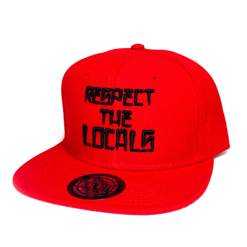 Local Roots Respect Snapback Red