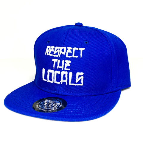 Local Roots Respect Snapback Blue