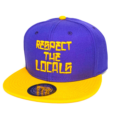 Local Roots Respect Snapback Purple and Yellow