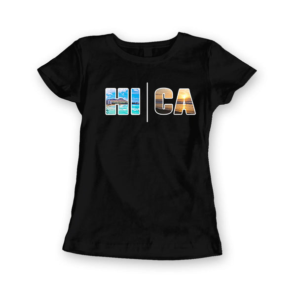 Local Roots Women's HI\CA Beach T-shirt