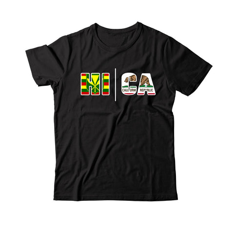 Local Roots Men's HI/CA Flag T-shirt