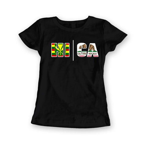 Local Roots Women's HI\CA Flag T-shirt