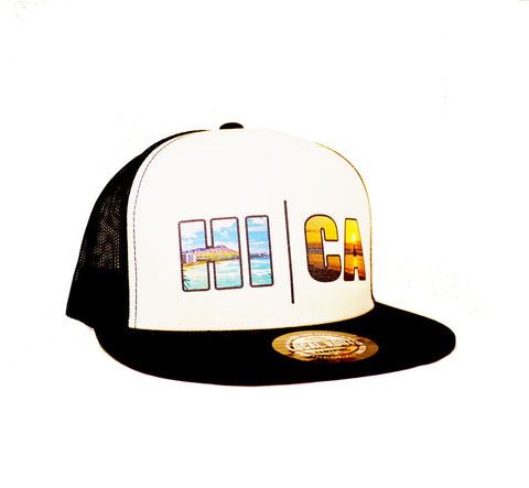 Local Roots HI\CA Beach Trucker Hat