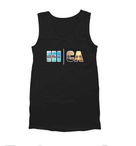 Local Roots HI\CA Beach  Mens Tank Top