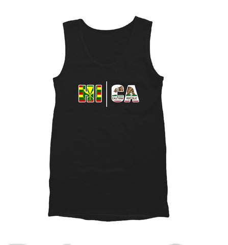 Local Roots HI\CA Flag  Mens Tank Top