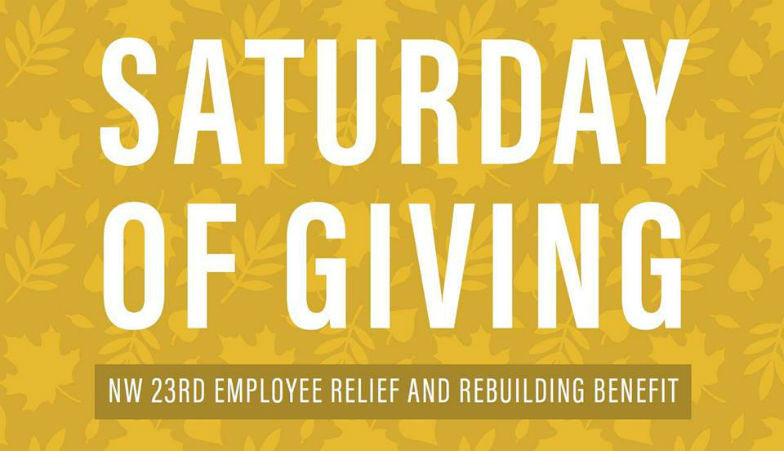 Saturday of Giving — Nov. 12