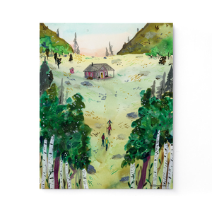 A Hike to the Cabin Print