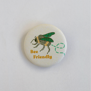 Bee Friendly Button