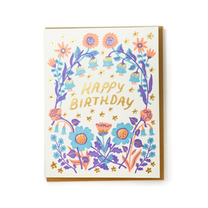 Phoebe Wahl: Happy Birthday Wildflowers Card