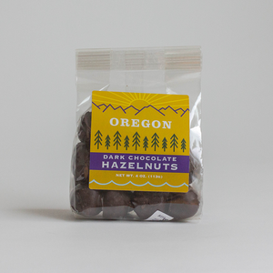 Dark Chocolate Hazelnuts (4 oz)