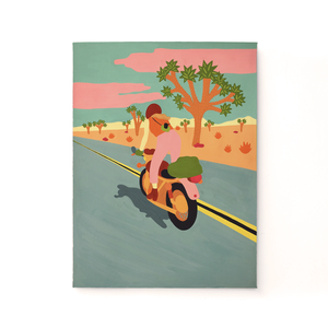 Woman Riding Through the Desert