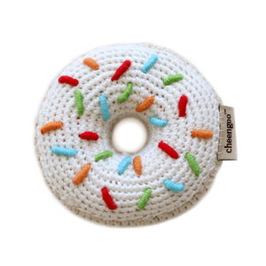 Donut Hand-Crocheted Rattle