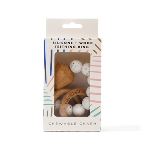 Hayes Silicone + Wood Teether