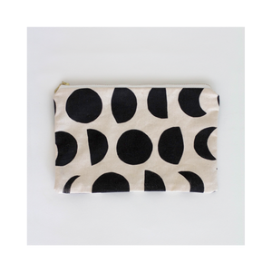 Hand Printed Zipper Pouch