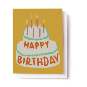 Wonky Birthday Cake Card
