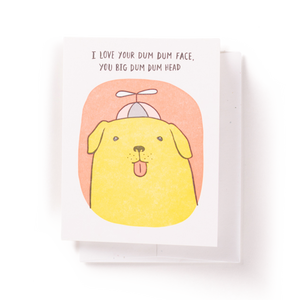 Dum Dum Head Dog Card