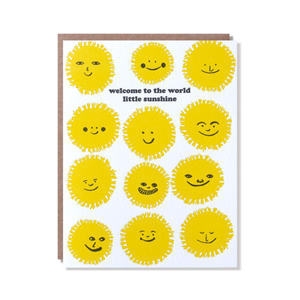 Welcome Sunshine Baby Card