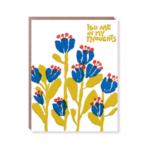 In My Thoughts Flowers Card