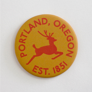 Portland Stag Round Magnet