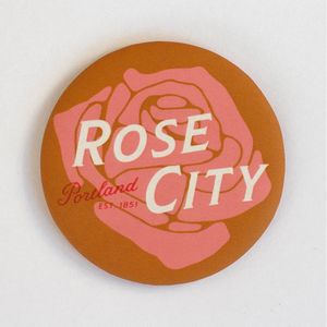 Rose City Round Magnet
