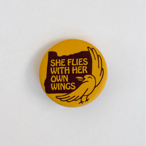She Flies Button