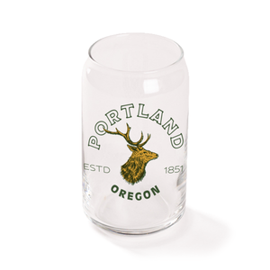 Vintage Stag Beer Can Glass