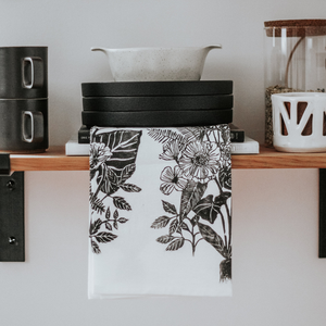 Kelsi Cross Block Printed Tea Towel