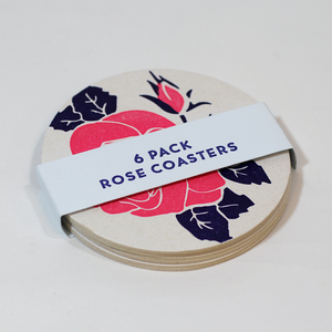 Rose Coasters 6 Pack