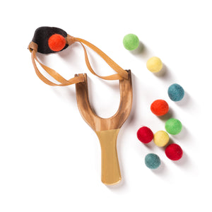 Wooden Slingshot by Little Lark