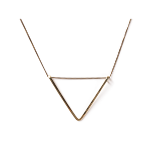 Geometric Simple Layering Necklace