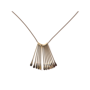 Loop - Gold Deco Fan Necklace
