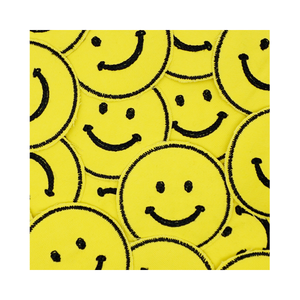 Smiley Face Stitched Patch