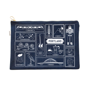 Large Portland Zip Clutch
