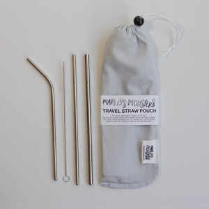 Straws Travel Set - Linen Pouch