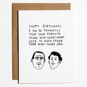 Parents Sweet Love Birthday Card