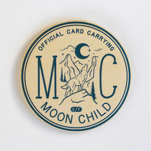 Moon Child Round Magnet