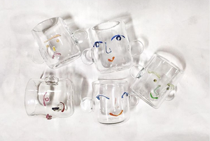 Glass Face Cup