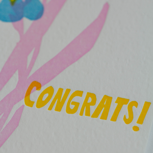 Congrats / Letterpress Card