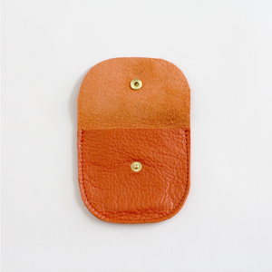 Leather Snap Pocket