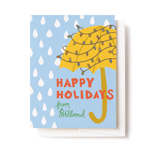 Umbrella Holiday Card