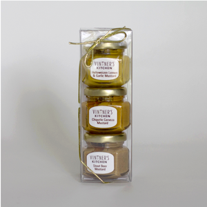 Beer Mustard Trio Jars