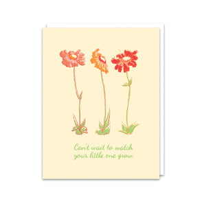Cream Wildflowers Grow Card