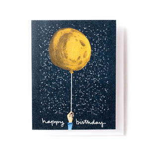 Birthday Moon Balloon Card