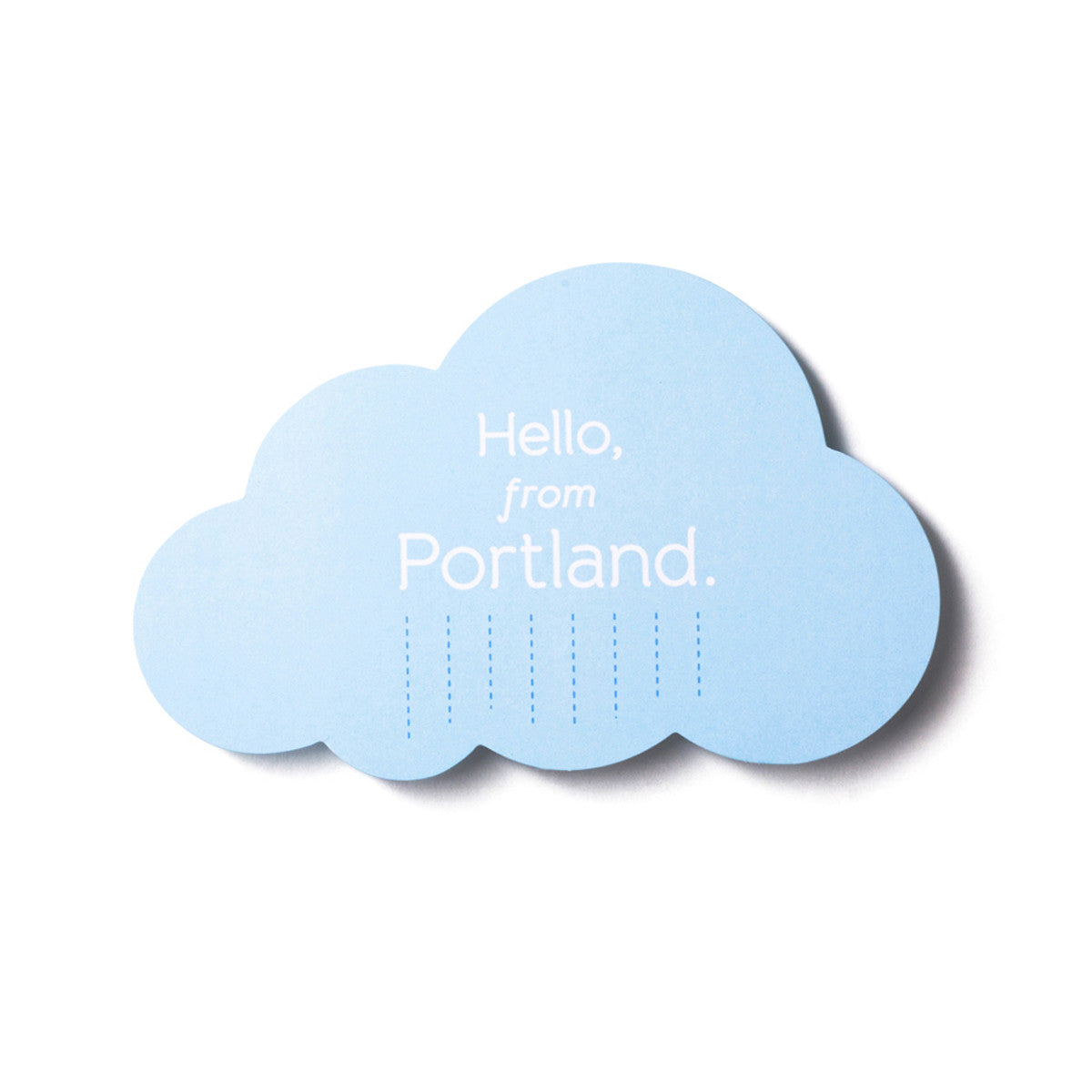 Hello From Portland Postcard