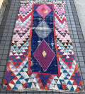 Rug Moroccan boucherouite The Future is Pink 6.10x4